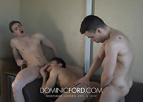 THREE-WAY - Kayden Cross Ken Summers and Josh Milk