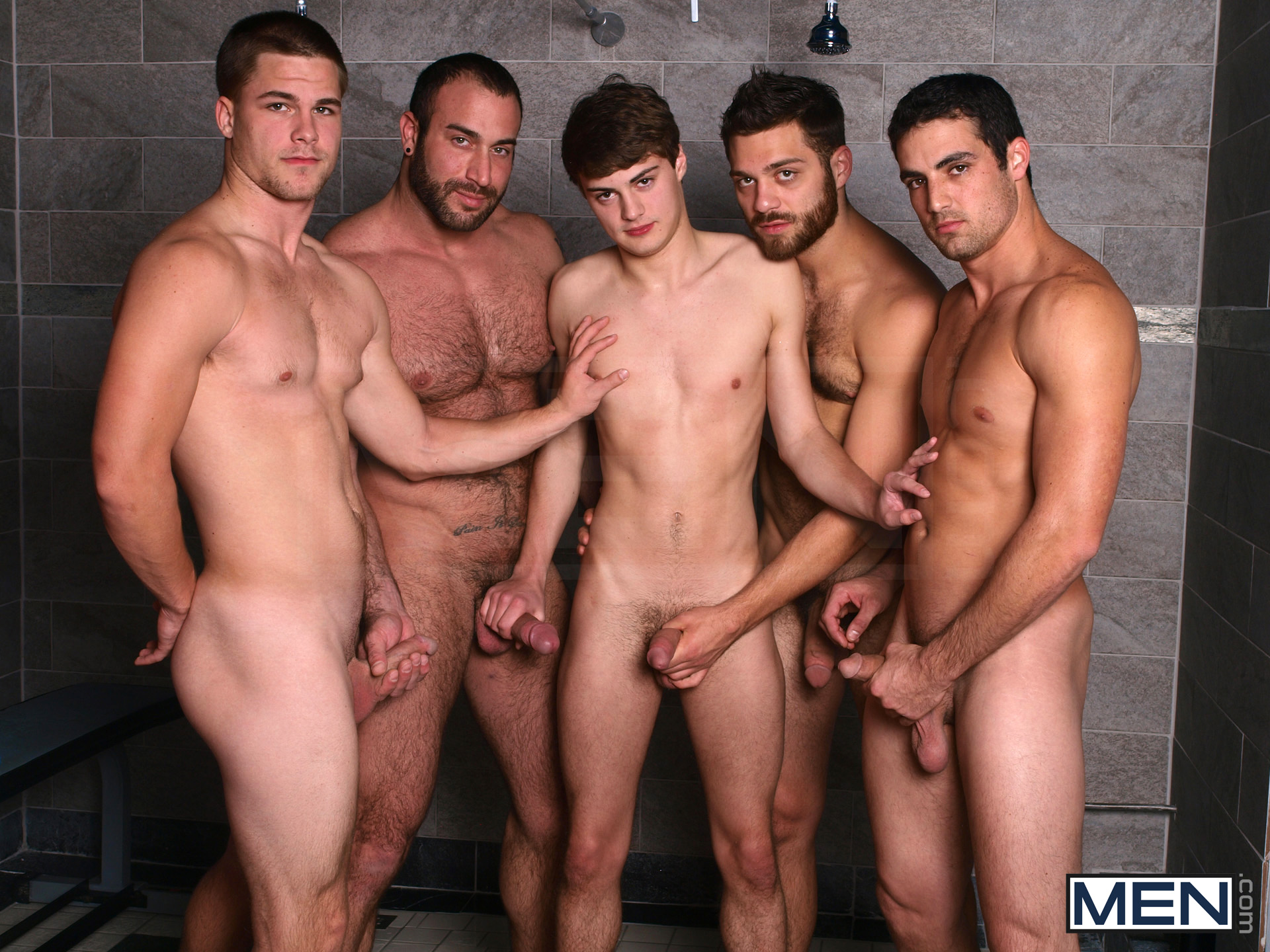 A gay twink gangbang by older men and soft 9
