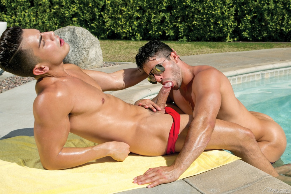 Pool gay porn