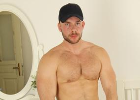 the whole hog Public toilet sex you big muscle