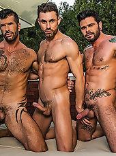 James Castle - Adam Killian - Mario Domenech   Raw Threesome