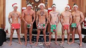 CHRISTMAS SIX MEN ORGY