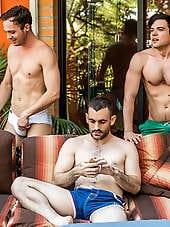 Max Arion, Dakota Payne And Drake Rogers Bareback Threesome