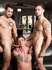 GYM SLUT WITH LANCE FORD, DANTE COLLE AND DAVID SKYLAR