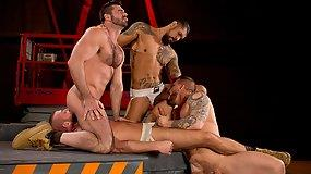 Clusterfuck with Billy Santoro - Rocco Steele - Hunter Marx and Boomer Banks