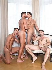 Dato Foland, Craig Daniel, Logan Moore, And Theo Ford - Bareback Sex Foursome
