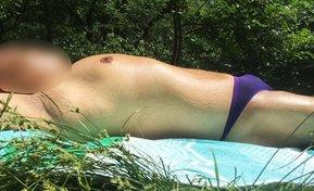 Bikini sunbather