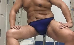 Blue thong YMCA